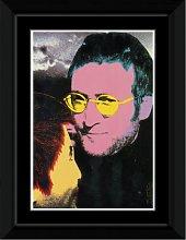 John Lennon - Yellow Glasses Framed and Mounted