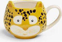 John Lewis & Partners Animals Leopard Mug, 250ml,
