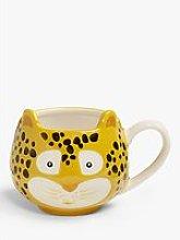 John Lewis & Partners Animals Leopard Mug, 370ml,