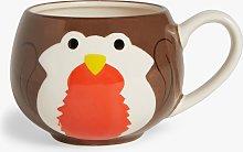 John Lewis & Partners Animals Robin Stoneware Mug,
