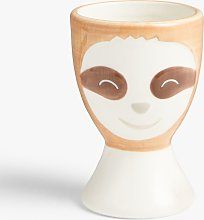 John Lewis & Partners Animals Sloth Egg Cup, 80ml,