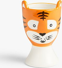 John Lewis & Partners Animals Tiger Egg Cup, 80ml,