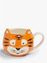 John Lewis & Partners Animals Tiger Mug, 370ml,