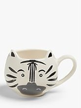 John Lewis & Partners Animals Zebra Mug, 370ml,