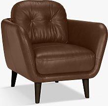 John Lewis & Partners Arlo Leather Armchair, Dark