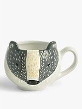 John Lewis & Partners Badger Mug, 400ml,