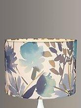John Lewis & Partners Bloom Floral Lampshade, Blue