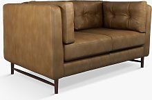 John Lewis & Partners Booth Small 2 Seater Leather