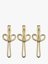John Lewis & Partners Brass Plated Curtain Hooks,