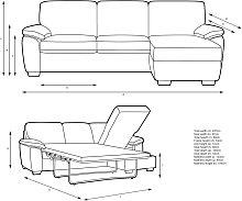 John Lewis & Partners Camden 5+ Seater RHF Storage