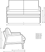 John Lewis & Partners Cane Small 2 Seater Sofa