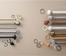 John Lewis & Partners Chrome Curtain Rings, Pack