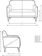 John Lewis & Partners Compact Small 2 Seater Sofa
