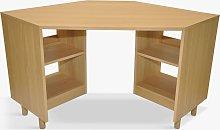 John Lewis & Partners Cube Corner Desk, Natural,