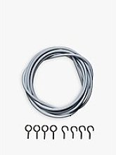 John Lewis & Partners Curtain Wire Kit With Hooks