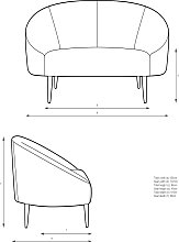 John Lewis & Partners Curved Small 2 Seater Sofa