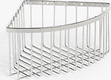 John Lewis & Partners Deep Corner Shower Basket