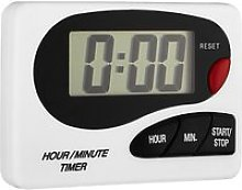 John Lewis & Partners Digital Kitchen Timer, White