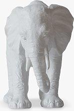 John Lewis & Partners Elephant Garden Sculpture, White, H18cm
