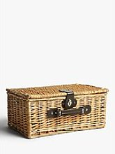 John Lewis & Partners Empty Wicker Picnic Basket,