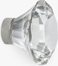 John Lewis & Partners Faceted Glass Cupboard Knob,