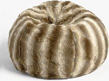 John Lewis & Partners Faux Fur Beanbag, Ombre Mocha