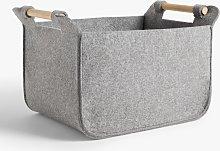 John Lewis & Partners Felt Storage Basket with Ash