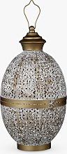 John Lewis & Partners Fusion Oval Iron Lantern,