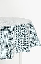John Lewis & Partners Gingham PVC Wipe Clean Round