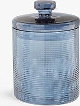 John Lewis & Partners Glass Jar, Medium, Blue