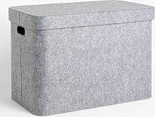 John Lewis & Partners Grey Felt Storage Trunk
