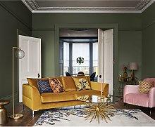 John Lewis & Partners Hanover Velvet Cushion, Gold