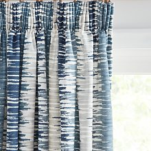 John Lewis & Partners Ikat Pair Lined Pencil Pleat