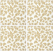 John Lewis & Partners Leaf Pattern Cotton Napkins,