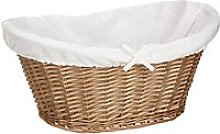 John Lewis & Partners Lined Oval Wicker Laundry