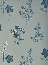 John Lewis & Partners Mabel Wallpaper, Grey / Blue