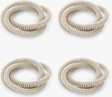 John Lewis & Partners Metallic Loops Napkin Rings,