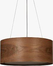 John Lewis & Partners Mia Ceiling Light, Walnut