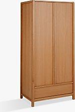 John Lewis & Partners Montreal 2 Door Wardrobe, Oak