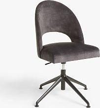 John Lewis & Partners Moritz Velvet Office Chair,