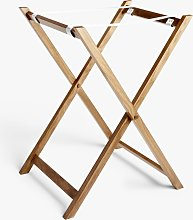 John Lewis & Partners Oak Wood Butler Tray & Foldable Stand, Natural