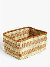John Lewis & Partners Orange Band Seagrass Basket