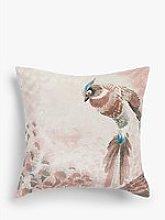 John Lewis & Partners Plume Cushion, Soft Pink
