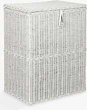 John Lewis & Partners Rattan Double Laundry Basket