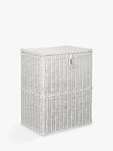 John Lewis & Partners Rattan Double Laundry Basket