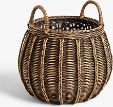 John Lewis & Partners Rattan Small Round Basket,