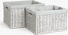 John Lewis & Partners Rattan Storage Basket, Set