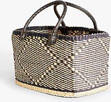 John Lewis & Partners Rectangle Basket, Natural /