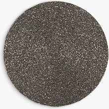 John Lewis & Partners Round Beaded Placemat