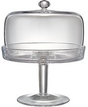 John Lewis & Partners Serve Glass Cake Stand and